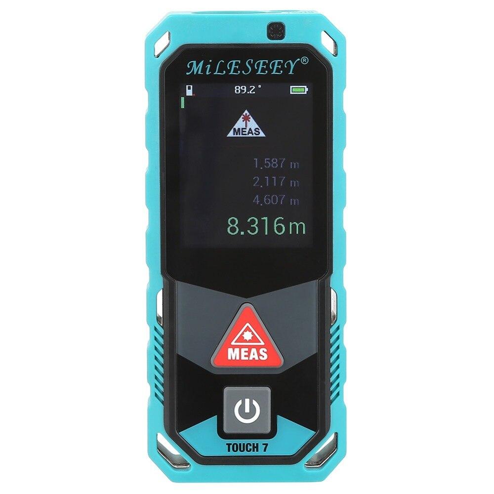 60 м 80 м 100 м T7 серии Портативный лазерный дальномер Bluetooth дальномер Площадь Объем метр инструмент аксессуар
