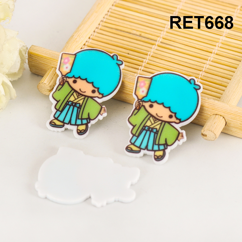 Japanese cartoon character planar resin flatback 36*25MM 50pcs RET668