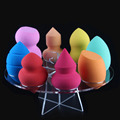 New Arrival Brush Tree 8pcsBlender Holder Acrylic Cosmetic Brush Display Case Blender Sponge Dryng Pad and Blender Sponge set