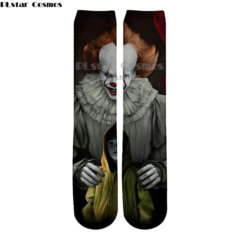 Plstar Cosmos new 3D socks Clown Harajuku style Funny 3D High Socks Men Women high quality harajuku fashion thick socks
