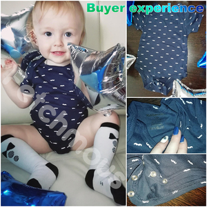 Image 5 - 6Pcs/sets Newborn Baby Boy Clothes Toddler Girls Rompers Summer Short Sleeve Baby Onesie tiny Cotton Baby Clothing roupa de bebe