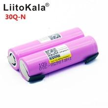 100% Original Liitokala 18650 3000mah Battery INR18650 30Q-N 20A Discharge Li-ion Rechargeable Battery for E-cigarette цены онлайн