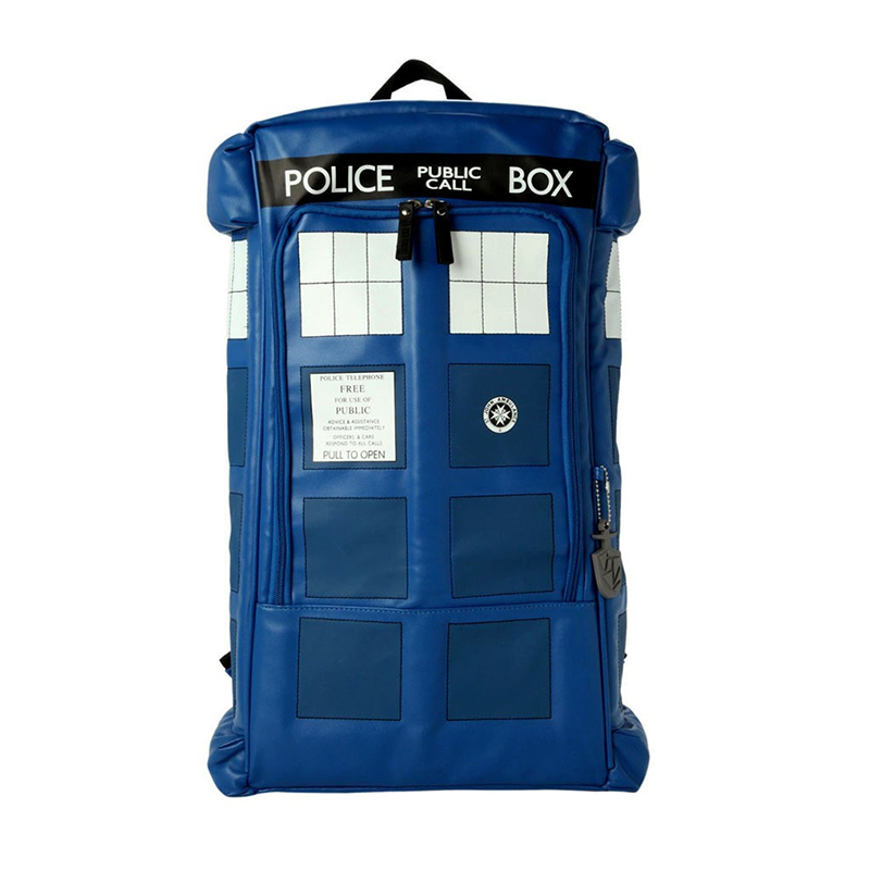 Fashion Anime Doctor Who Backpack Dr Who Tardis Mochila Escolar Rucksack School Backpack For Teenager Collection Gift цена