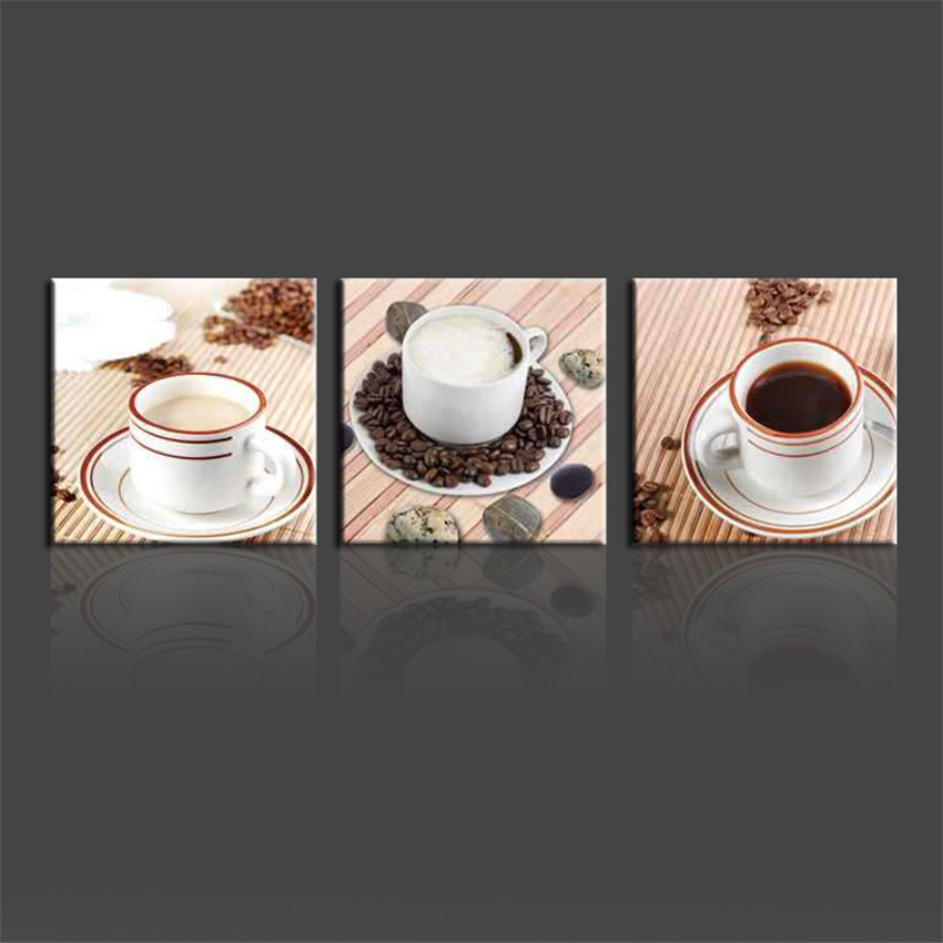 Coffee Pictures Cuadros De Lienzo Frameless Cuadros Abstractos Wall Pintura 3 Piece Canvas Wall Art Modern Home Decoration
