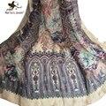 Мода Цветочный Печати Бахромой Шарф и Обертывания для Женщин Этническом Стиле Цветок Бандана и Платки Дамы Мягкий Пляж Платки