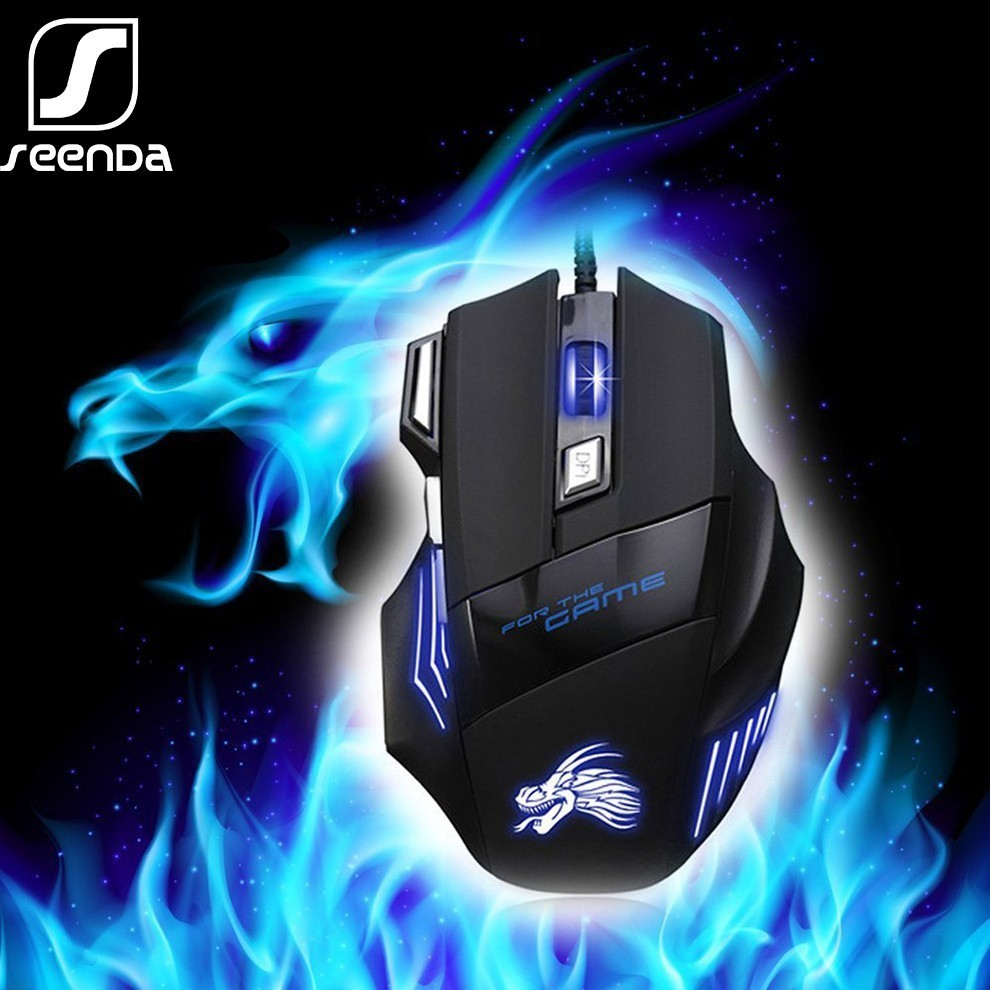 Premium Gaming Mouse Choice Black Cool Optical Ergonomic Gaming Mouse Practical 3 Gear Adjustable DPI Gaming Mouse ChainSee USB Rechargeable X7 Wireless Silent LED Backlit Gaming Mouse