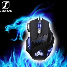 Profesional Wired Gaming Mouse 7 Button 5500 DPI LED Optik USB Mouse Komputer Ergonomi Gamer Mice X8 untuk Laptop PC permainan(China)