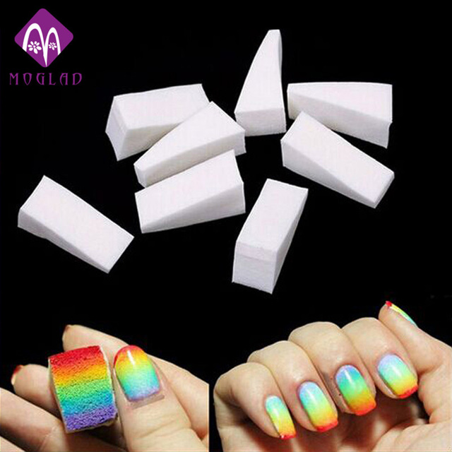 New 8pcsset Gradient Nails Soft Sponge For Color Fade Natural Magic