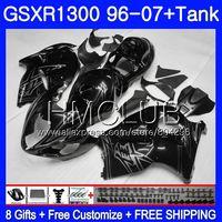 Обтекатель для SUZUKI Hayabusa GSXR 1300 GSXR1300 96 97 98 99 00 01 26HM. 11 черный глянец GSX R1300 1996 1997 1998 1999 2000 2001