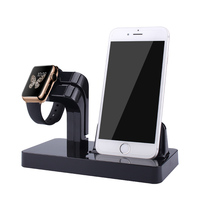 Charging Stand Bracket Docking Station Stock Cradle Holder For IPhone Apple Watch 38mm 42mm Lazyman Desktop
