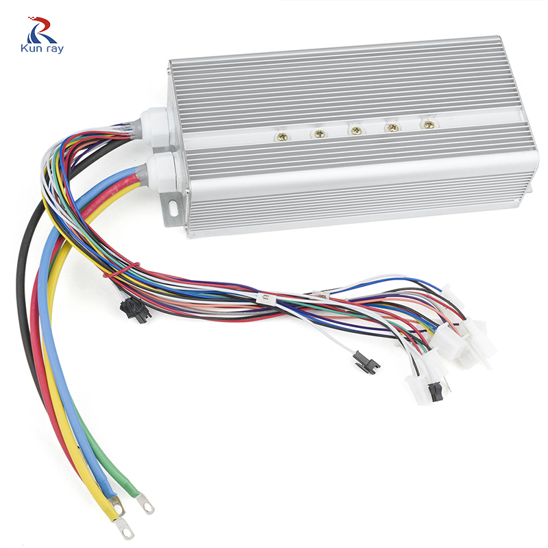 Brushless Controller 48V-20V 2000W 3000W 5000W 9000W 24Mosfet 120Degree Phase 3-Wheel Cargo Engine Electric Rickshaw Controller