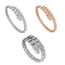 JEM 925 sterling silver snake  bracelet fashion cobra style ladies bulgaria birthday present
