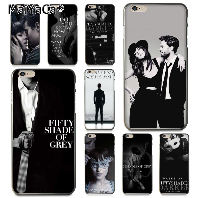 MaiYaCa Fifty Shades of Grey darker Coque Shell Phone Case for Apple iPhone 8 7 6 6S Plus X 5 5S SE 5C Cover ...