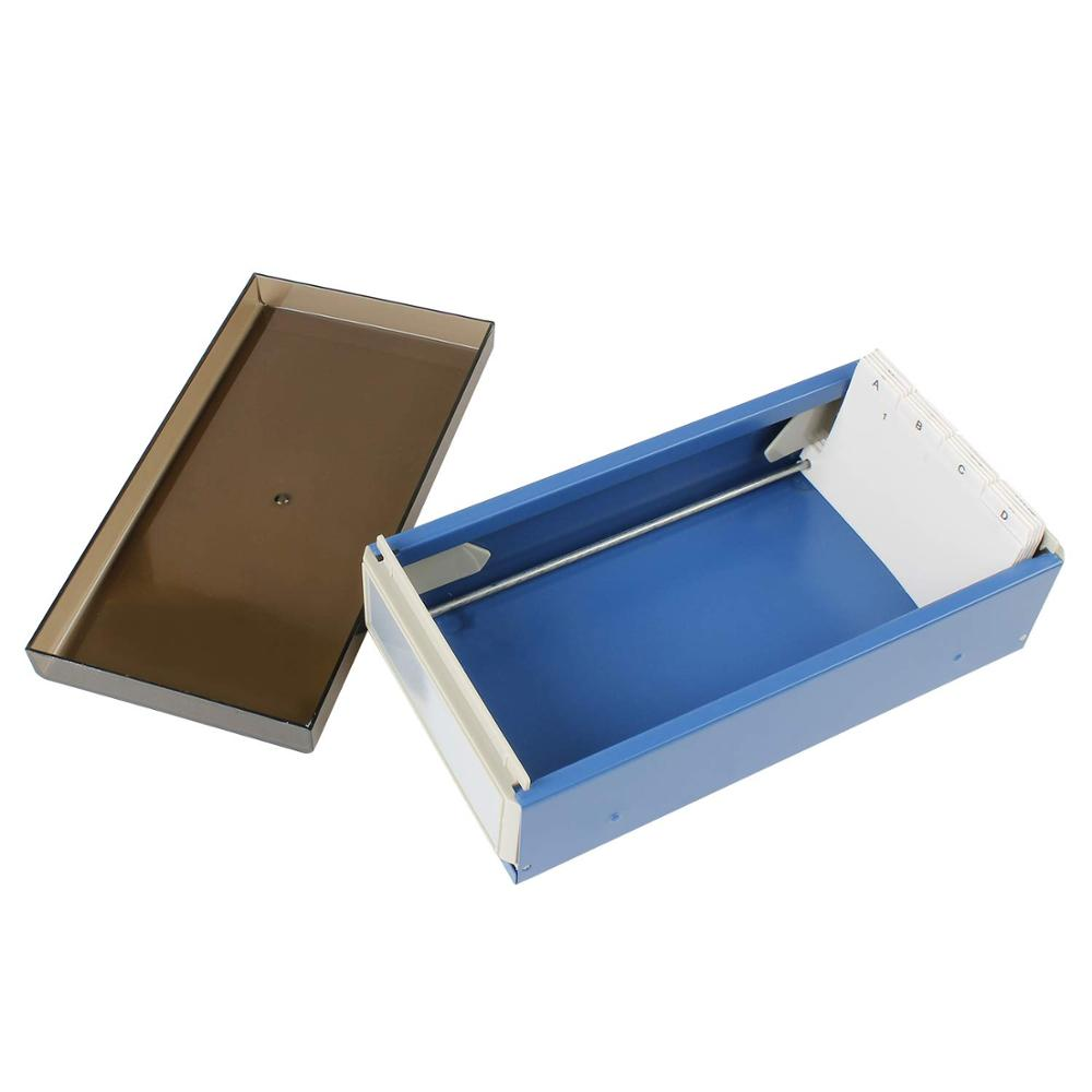 Image 5 - MyLifeUNIT 600 Cards Capacity Business Card Storage Box with A Z Index Business Card File Organizer with Removable Divider-in Card Holder & Note Holder from Office & School Supplies