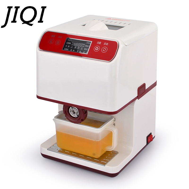 JIQI MINI household seeds Oil Hot Cold Press Machine seeds Peanut Oil Presser automatic electric Oil Expeller Extractor EU plug jiqi automatic industrial oil press machine press preheat oil presser 220v 110v peanut soybean high extraction rate household