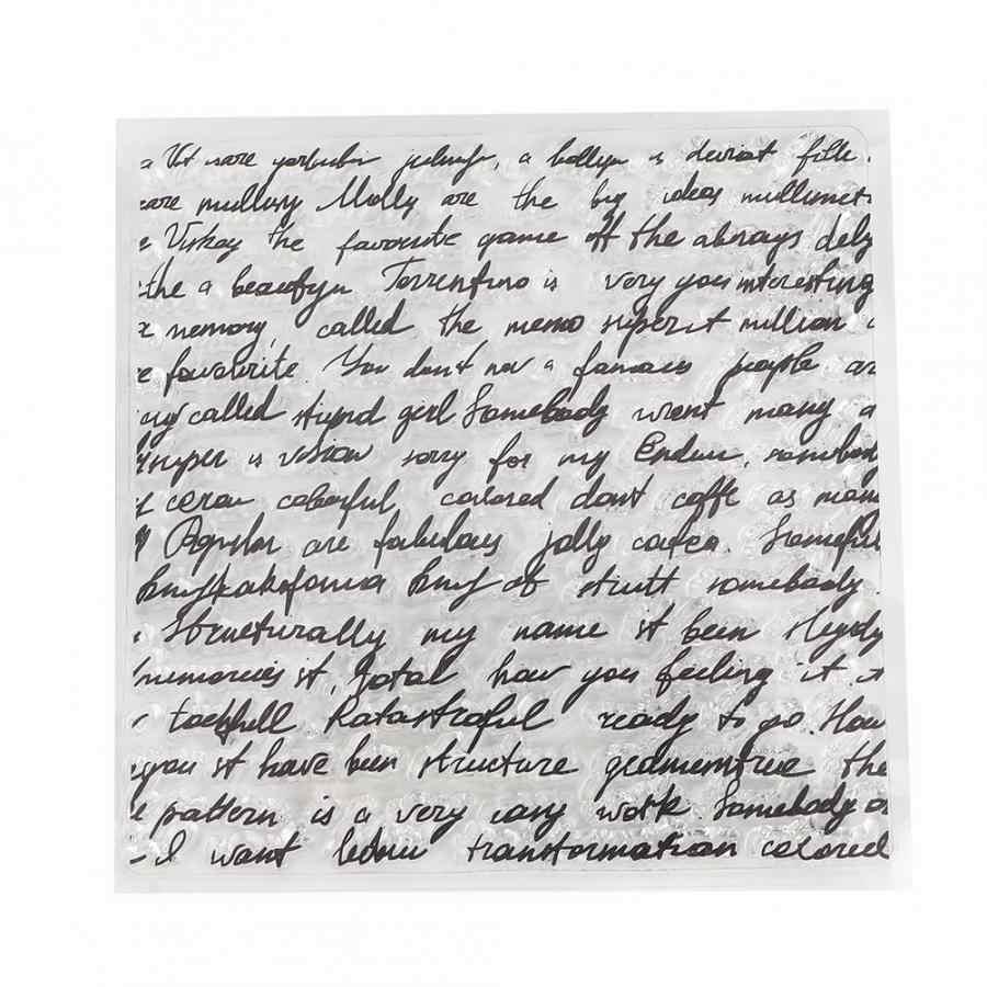 Sello transparente DIY cuenta de mano álbum de recortes acabado sello foto álbum decoración boda invitación decorativa