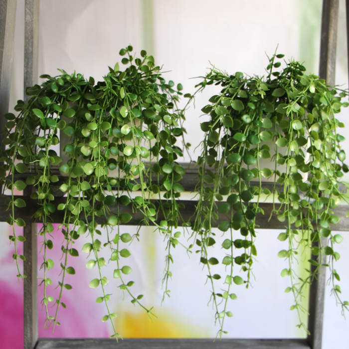 new hight quality plastic vivid green artificial plant floral foliage vine home party office desk table decorative artificial plants for office decor