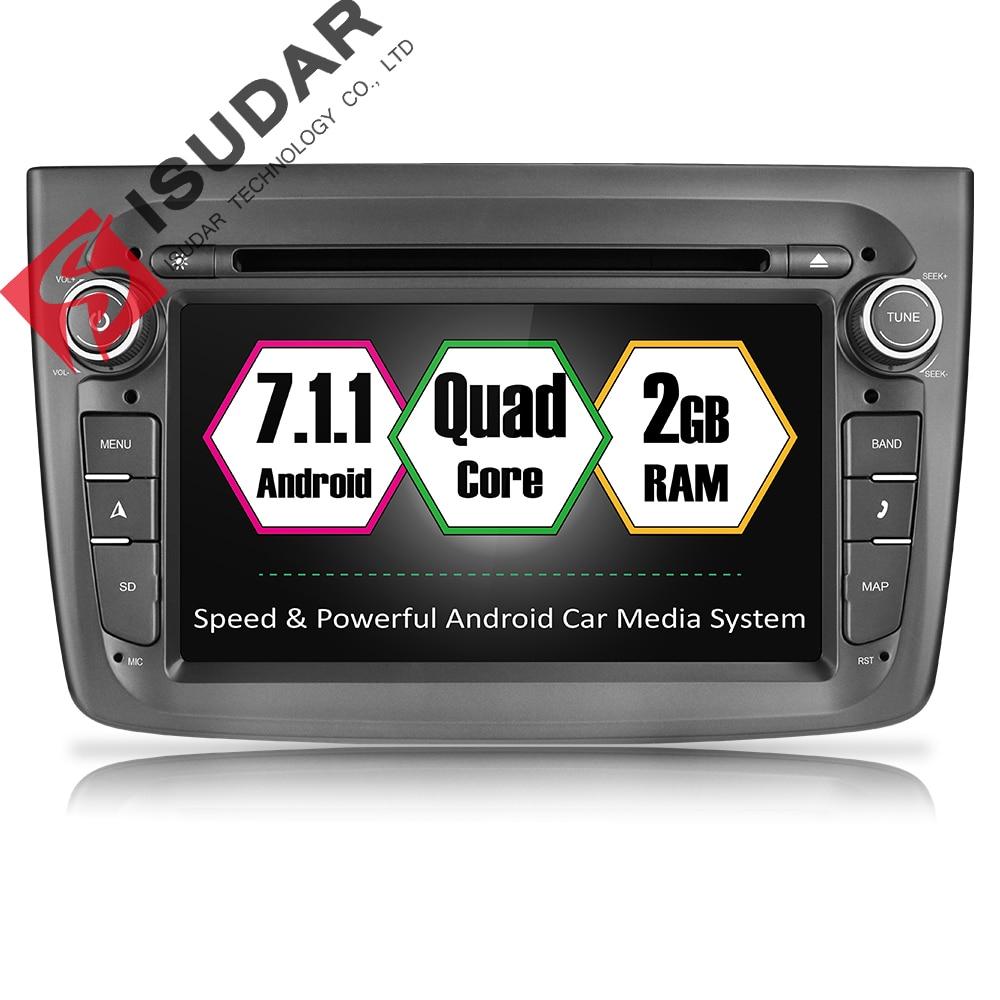 Isudar автомобильный мультимедийный плеер 1 din для автомобиля, DVD android 7.1.1 7 дюймов для Alfa Romeo mito 2008-4 ядра 2 г ОЗУ радио FM gps USB DVR
