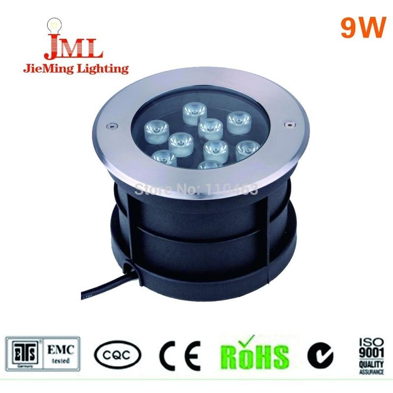 ФОТО IP67 9w Led underground light lamp sealing glue Waterproof floor lamp RGB 900lm AC85-265V led outdoor 4pcs/lot led reflector 12v