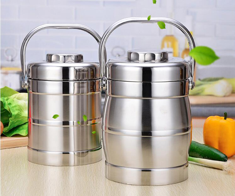 Thermos Food Stainless Steel Durable Insulated Container Double Layer Lunch Box