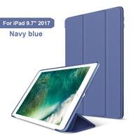 для айпад 2017 2018 iPad с 9, 7 дюймов, ультра тонкий легкий умный чехол защитный чехол-пост с GI мягкой тпу задняя крышка