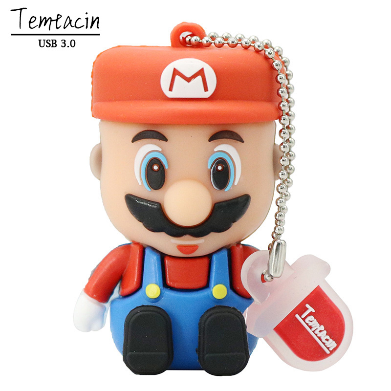 USB 3.0 3D Cartoon Super Mario Mini USB Memory Stick Card Pen Drive Gb 8GB 16GB 32GB PenDrive Flash Drive 64GB Gift ...