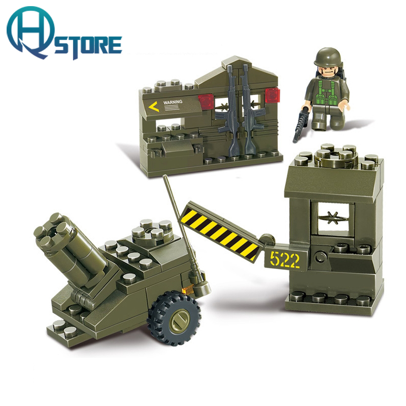 Army Building Blocks Sluban B0295 Educational DIY Brick Thinking Toy for Children Compatible with Legoelieds