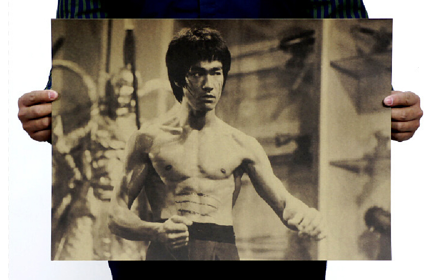 cuadros decoracion poster wall art cuadros posters Bruce Lee posters nostalgic retro kraft bar decorative painting 50x35cm
