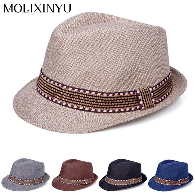d676c725516 MOLIXINYU Summer Baby Hat Fashion Boys Cap Children Breathable Hat Straw Kids  hat Boy Girls Hats Casual Beach jazz Caps For Boys