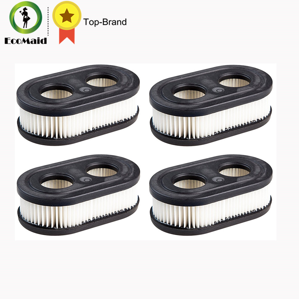 Air filter for Briggs & Stratton 798452 Air Cleaner Cartridge Filter Replace Lawn Mover Accessiries 4 PACK air filter cleaner pre filter for briggs stratton 792105 john deere miu11515 gy21057 replacement lawn mower parts 5 packs