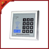 RFID glass wooden door access control kit with 180kg door electric magnet lock +power supply+proximity keypad+keyfob+push button
