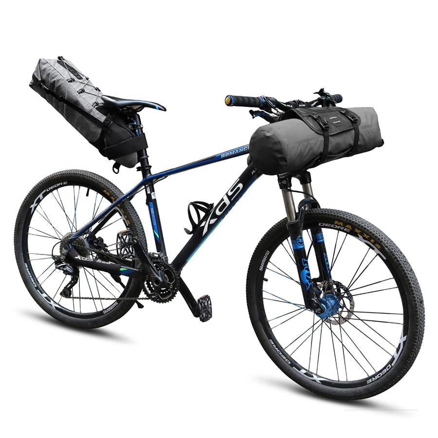 NEWBOLER Waterproof Bicycle Saddle Bag Large Bike Tail Seat Bags TPU and Bike Handlebar Bag