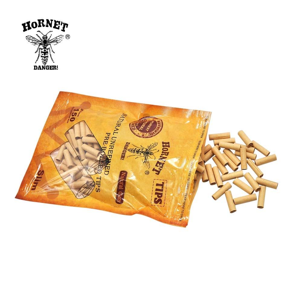 HORNET DANGER 150 X HORNET Natural Gum 5MM Slim Rolling FilterPre Rolled Natural Unrefined Cigarette Filter Rolling  Tips