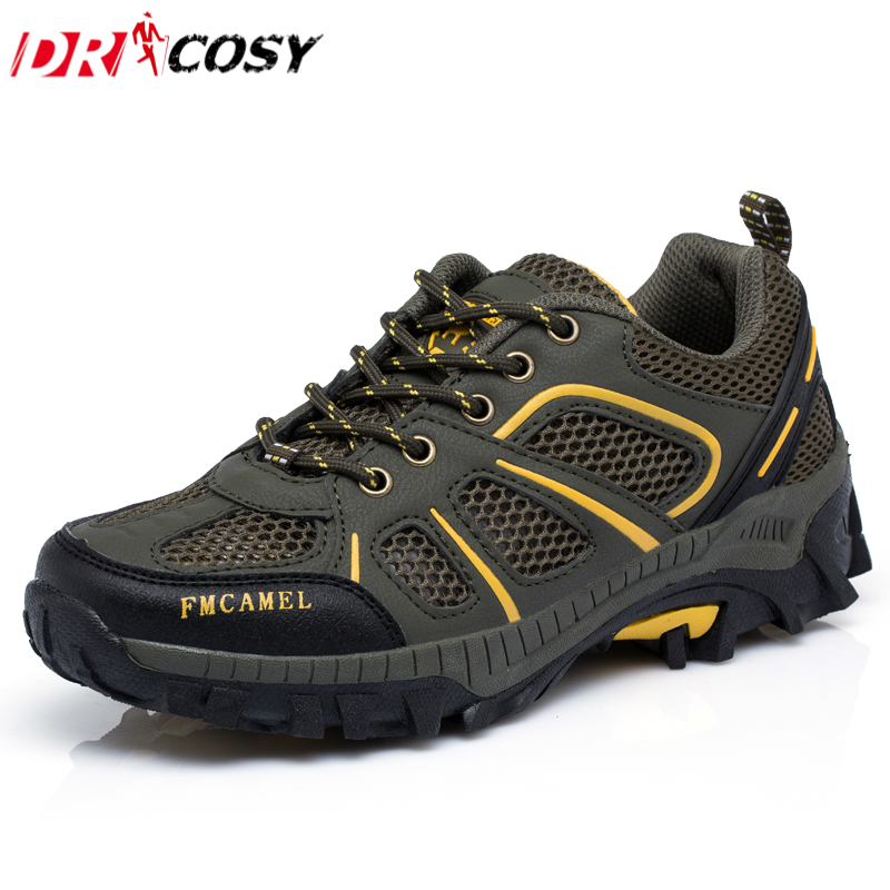 Men s Mesh Comfortable Casual Shoes Lace up Breathable Men Shoes Super Light Cross Country Wade