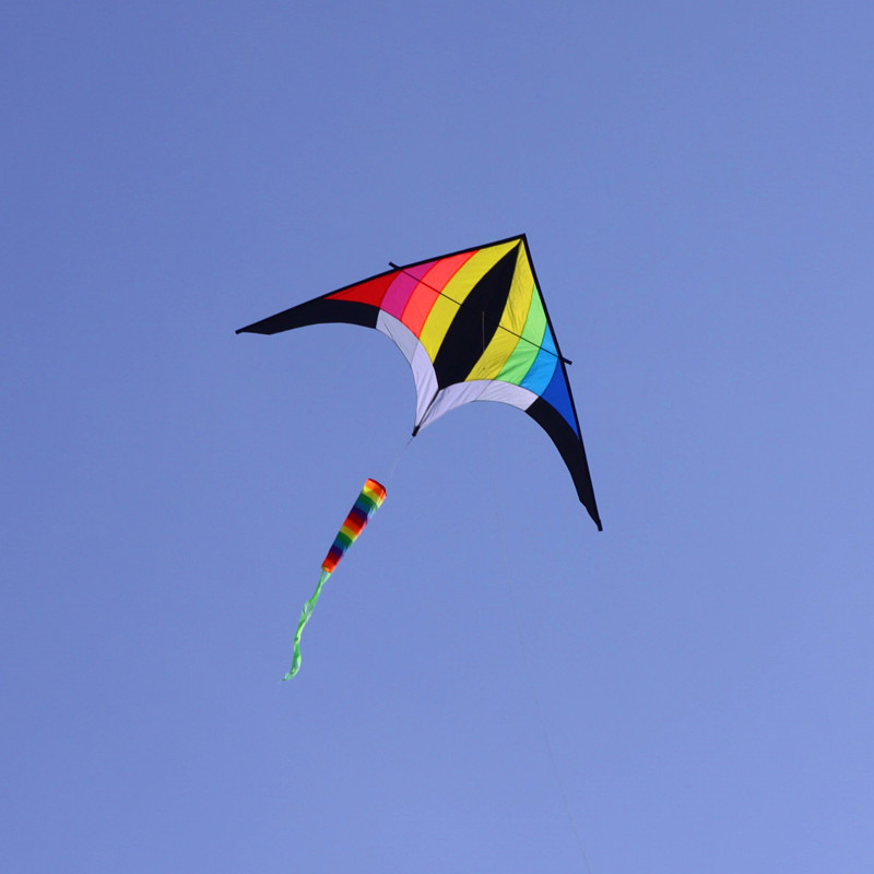 Free Shipping 5pcs Lot Large Rainbow Kite Delta