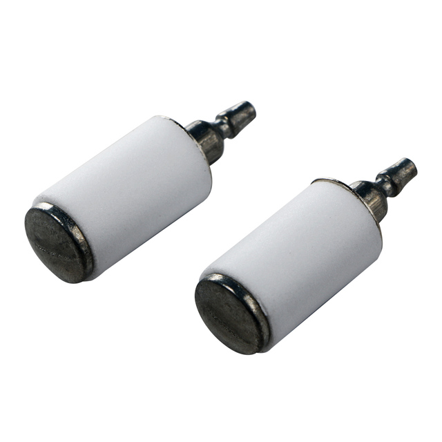high quality 10pcs carburetor accessory craftsman trimmer chainsaw fuel  filter white plastic 530095646