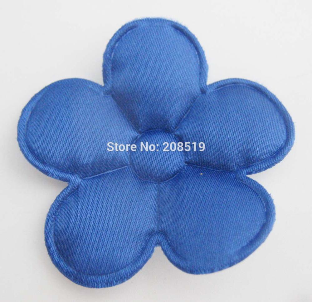 PANVGG 47 мм Цветочные аппликации 12 видов цветов DIY Скрапбукинг Цветочные нашивки 120 шт. головные уборы цветочный орнамент войлочный - Цвет: royal blue 47mm