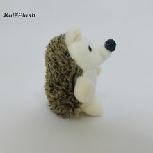 24pcs/lot Little Kawaii 9CM approx. Hedgehog Plush Stuffed TOY Dolls - Key Hook chain Pendant Plush TOY(China)