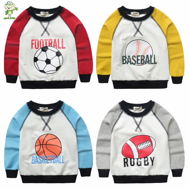V-TREE New Spring baby Boys Shirt T Shirt Clothes Long Sleeve Sports Sweatshirts For Boys Kids Hoodies Tees Tops 2-7 Year