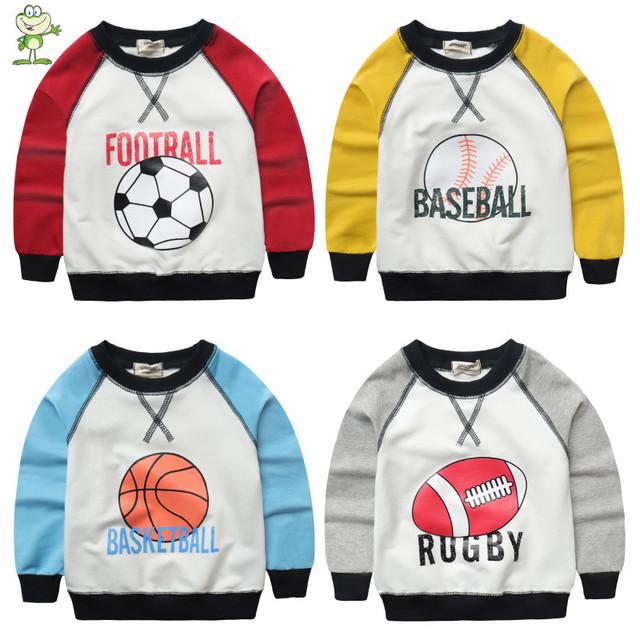 V-tree nova primavera meninos camisa do bebê t camisa roupas longas camisolas para meninos crianças hoodies esportes manga tees tops 2-7 ano