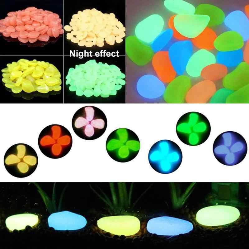 60pcs Luminous Toys Irregular Glow in Dark Pebbles Stones Aquarium Fish Tank Luminous Fluorescent Pebbles for Children Toys