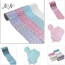 JOJO BOWS 75mm 2y Laser Ribbon 3D Mirror Tape For Crafts Needlework Materials Clothing Sewing Webbing DIY Hair Bows Party Decor martha stewart crafts silver ribbon bows