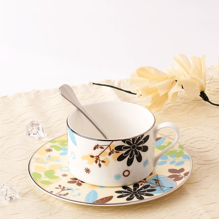 Coffee cup set coffee cup saucer creative pottery afternoon tea set tea cup free shipping