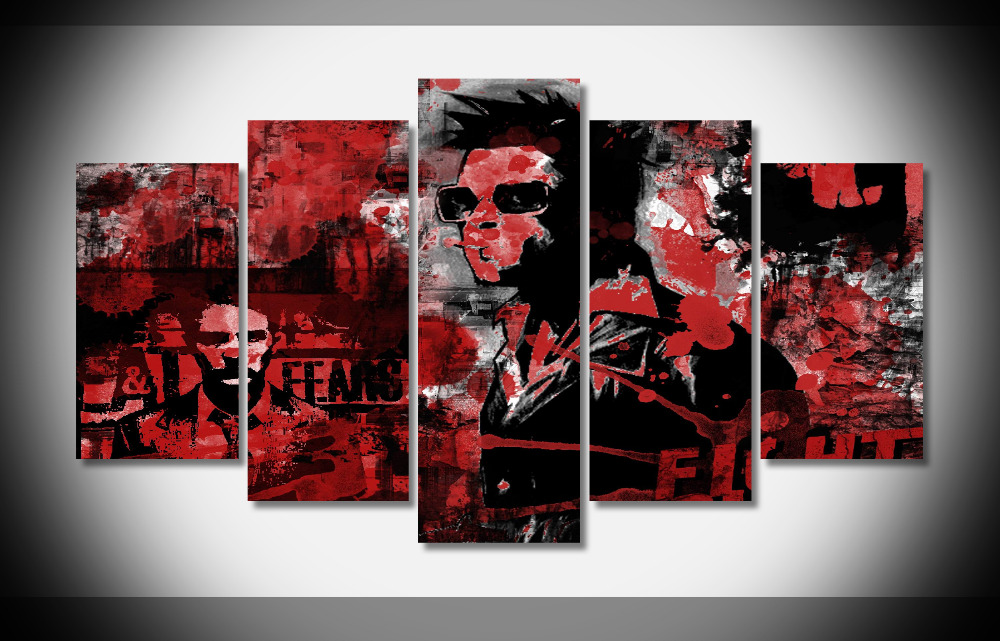 6626 Fight Club Movie Star Fabric Cloth Wall Poster Framed Gallery wrap art print home wall decor wall picture Already to hang