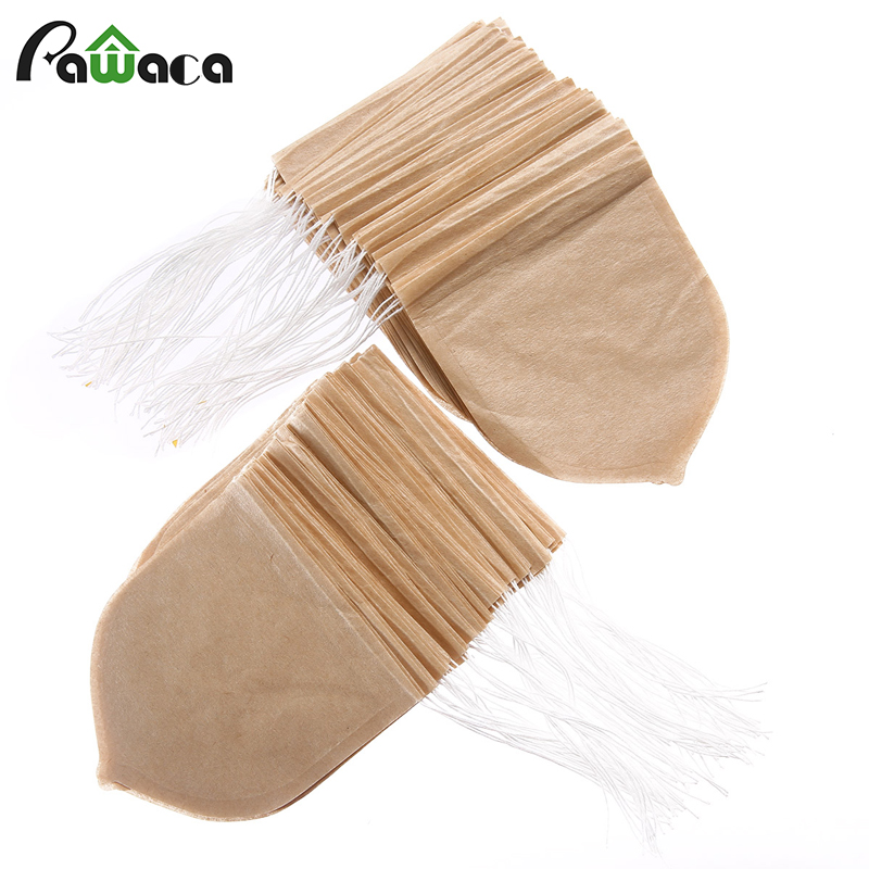 100pcs/lot Drop Shape Tea Bag Filter Infuser Strainer Paper Bags Heat Seal Teabags With String Tea Bag For Herb Loose Leaf Tea