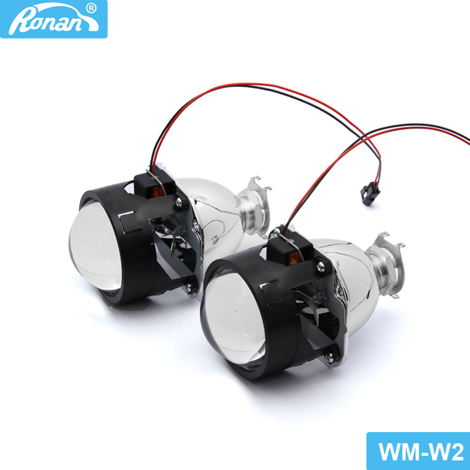 RONAN 2PCS 2.5inch Ultimate WST Bi-xenon HID projector Lens fits H4 H7 headlight Use H1 Xenon Bulb New Car Styling LHD RHD car styling automobiles wst ccfl angel eyes halo hid bi xenon lens projector headlight retrofit h1 h4 h7 headlamp lenses lhd rhd