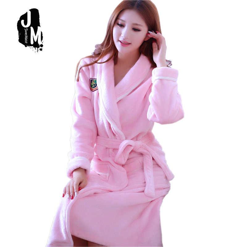 Women Men Thick Warm Long Flannel Red White Bathrobe Plus Size Kimono Bath Robe  Winter Peignoir f5175c821