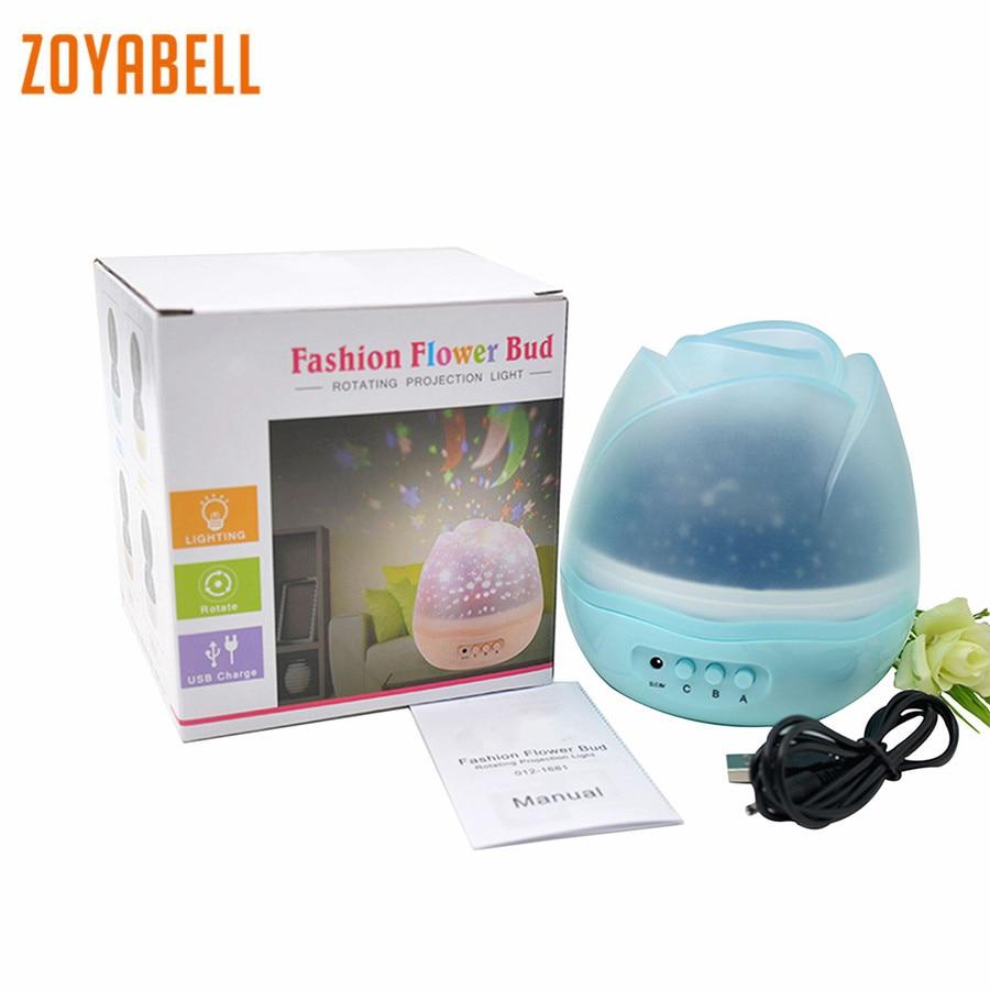 все цены на zoyabell Star Master Rotating Night Light Star Projector Baby Kids Sleep Romantic Led Spin Starry Sky Battery USB Lamp Lighting