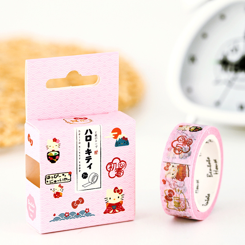 Kawaii Kitty Kitti Pattern Masking Tape Adhesive