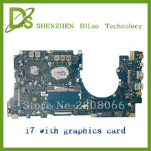 For ASUS N501JW UX501J laptop motherboard N501JW mainboard rev2.1 i7 cpu onboard with graphics card  100% tested  free shipping